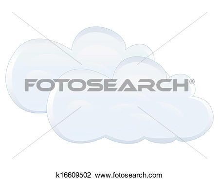Clipart of cloudiness k16609502.
