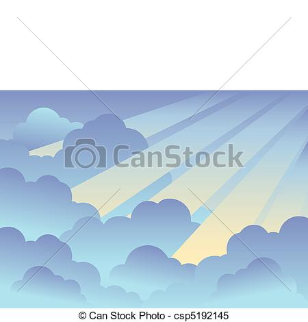 Clipart Vector of Cloudy sky background 6.