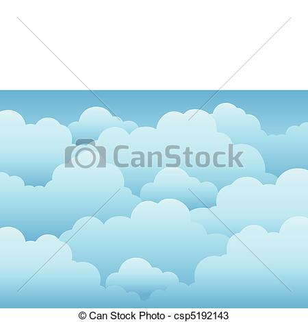 Vectors of Cloudy sky background 1.