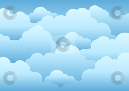 Cloudy sky background 1 stock vector.