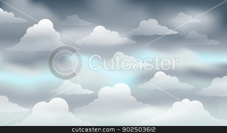 Cloudy sky theme image 3 stock vector.