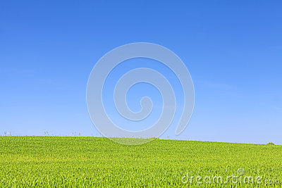 Cloudless Blue Sky And Old Style Roof Vents Stock Photo.