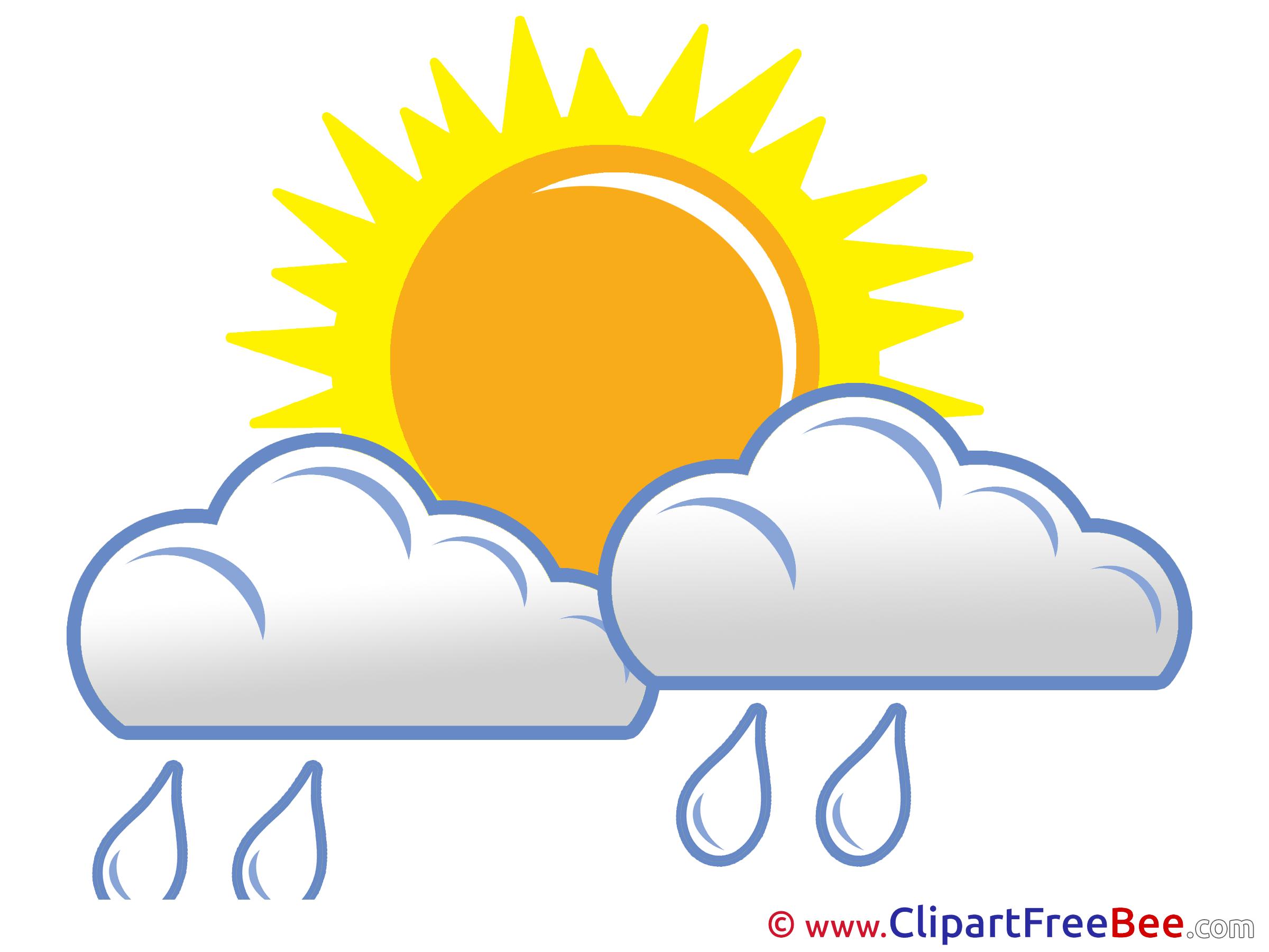 Sun And Rain Clipart.