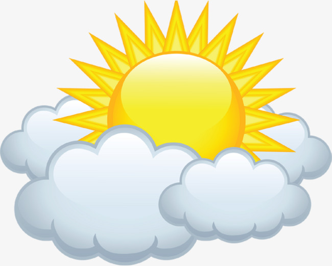 Cloudy Sun Cloud Material Free To Pull The Image Sun Clipart Cloud.