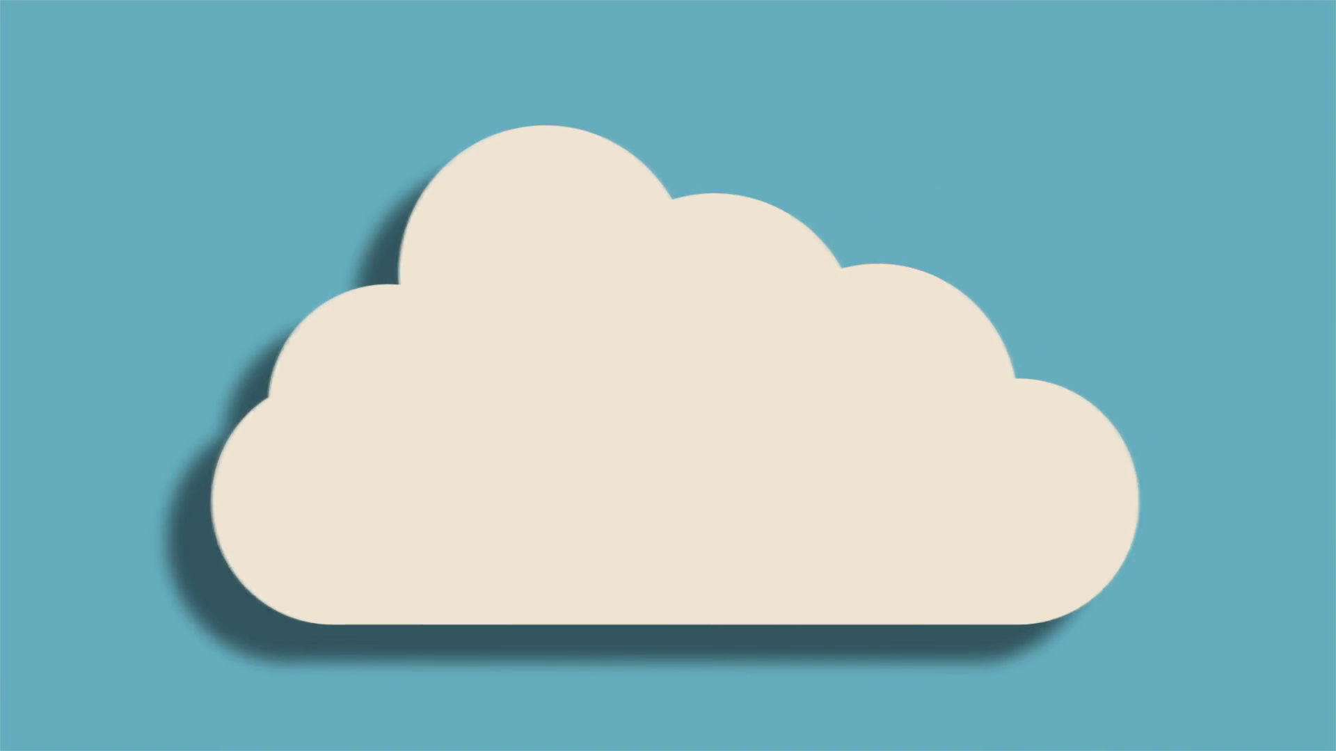 Animation of white cloud Motion Background.