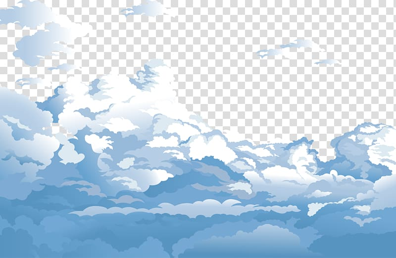 Sky Cloud Euclidean Blue, Blue sky and white clouds , animated.