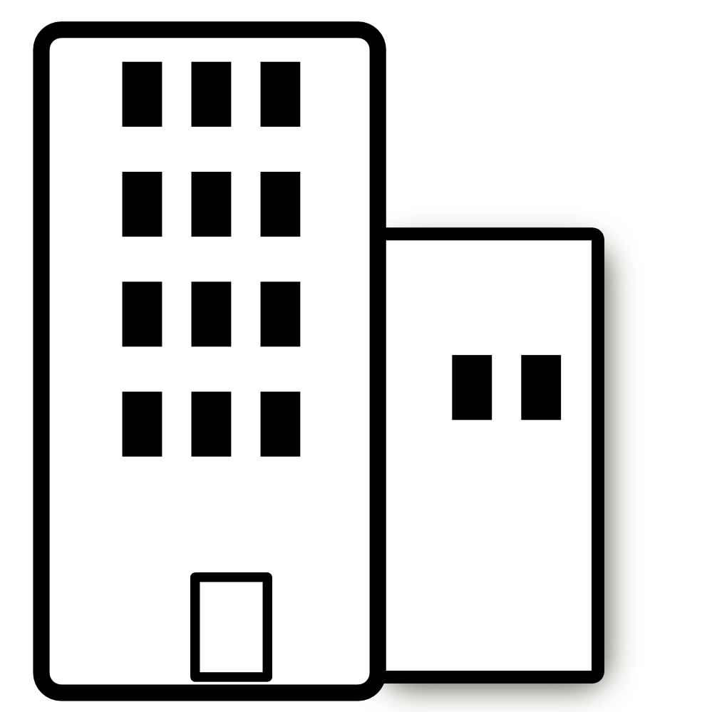 Black And White Apartment Building Clip Art Apartment, clip art.