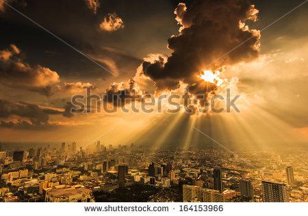 Cloud City Stock Photos, Royalty.