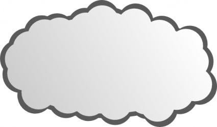 Image of Cloudy Clipart #7329, Clip Art Cloud.