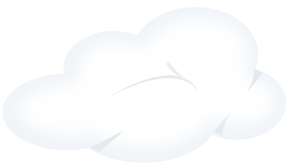 Cloudy clipart with transparent background.