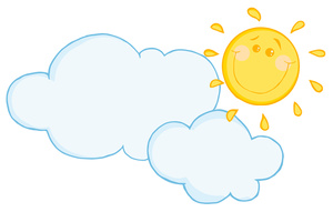 Partly Cloudy Clipart Image.