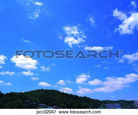 Picture of building, structure, construction, cloud, clouds.