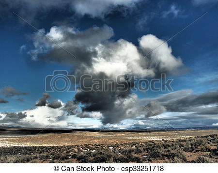 Stock Photography of Winter Clouds.