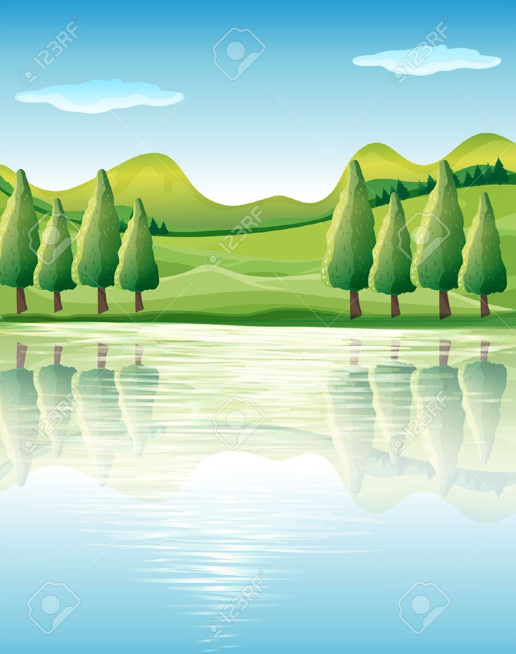 Illustration Of The Beauty Of Nature Royalty Free Cliparts.