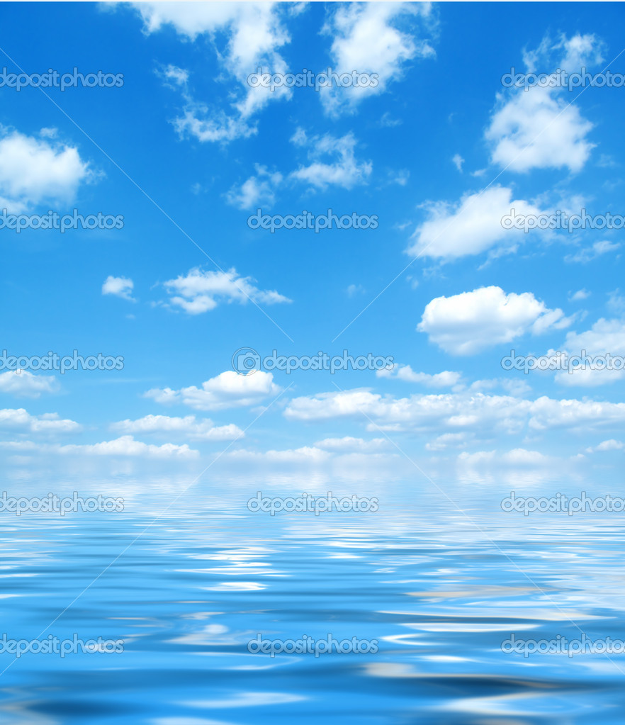 Sky and water clipart.