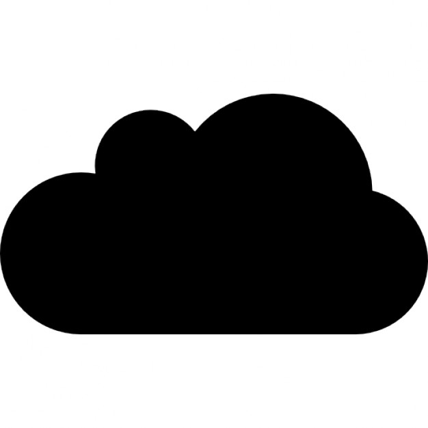 Cloud silhouette Icons.