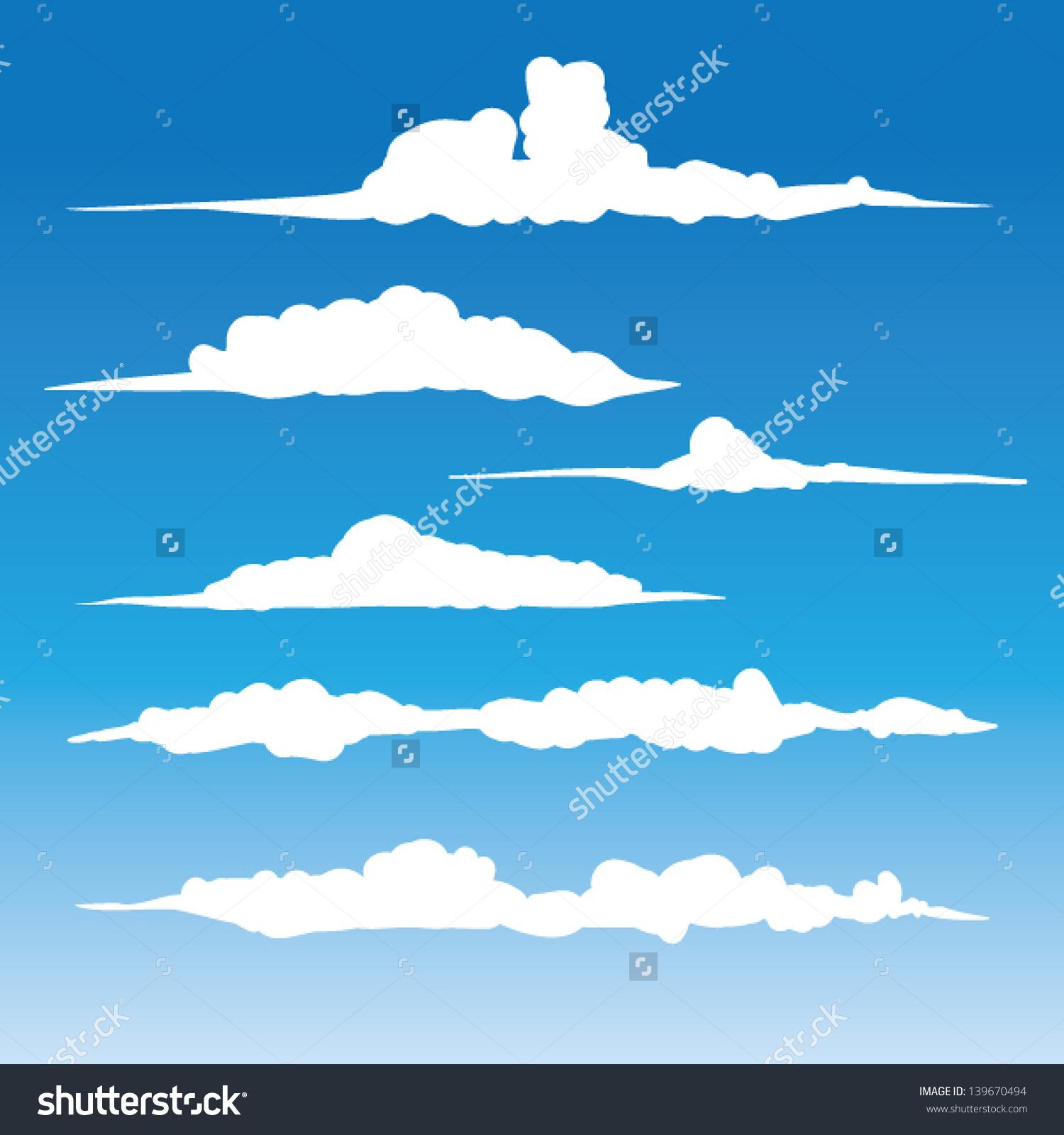 Cloud silhouette clipart.