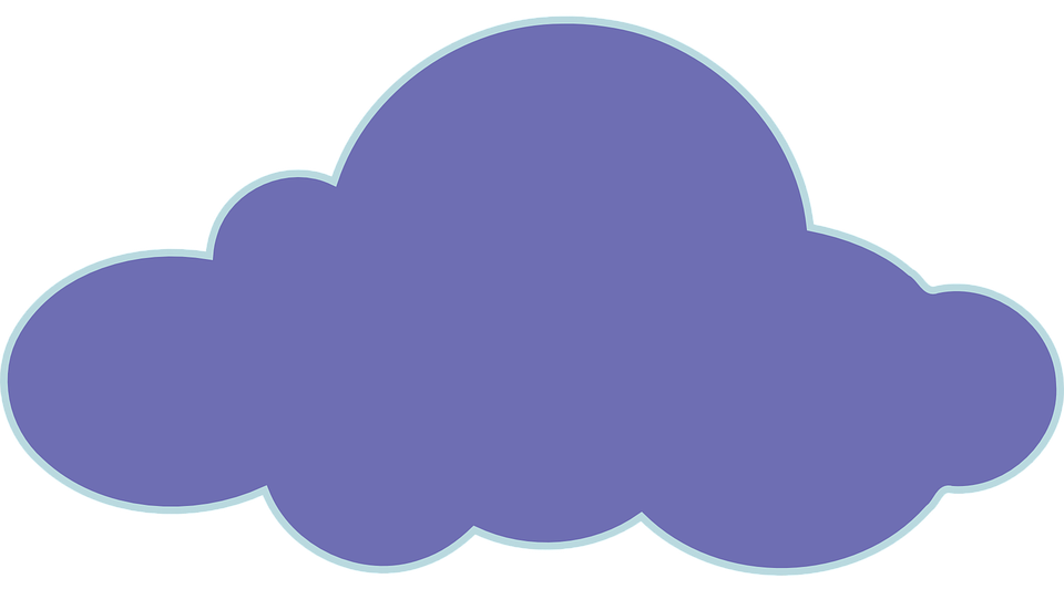 Free vector graphic: Cloud, Blue, Silhouette, Isolated.