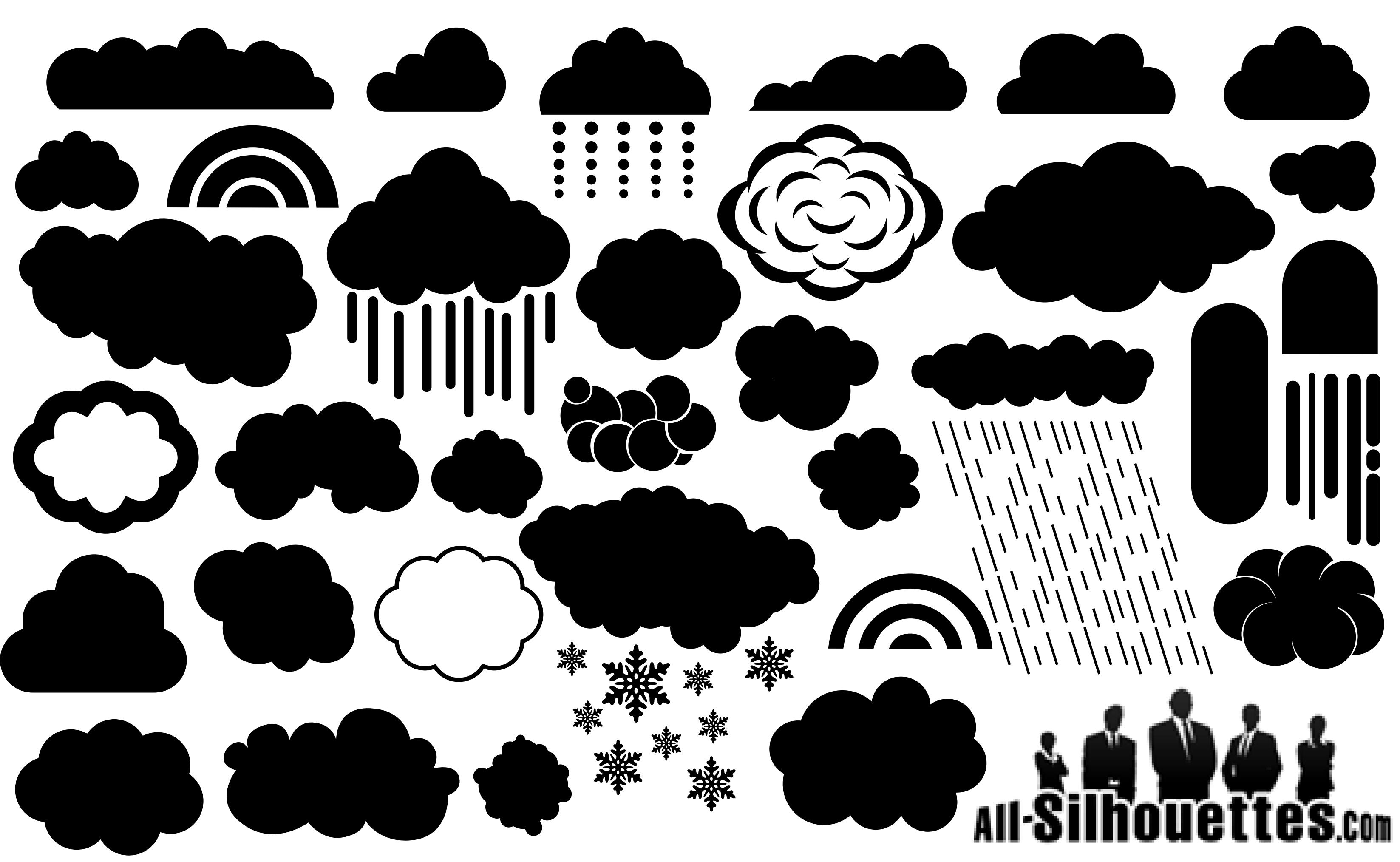 Cloud Silhouette Vector EPS Free Download, Logo, Icons, Brand.