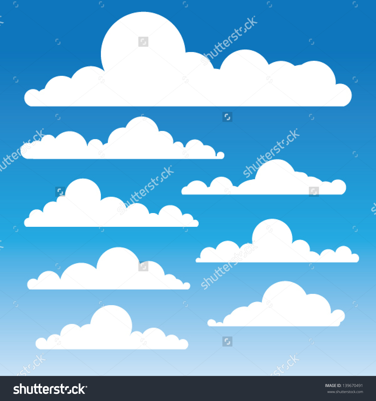 clouds silhouette clipart