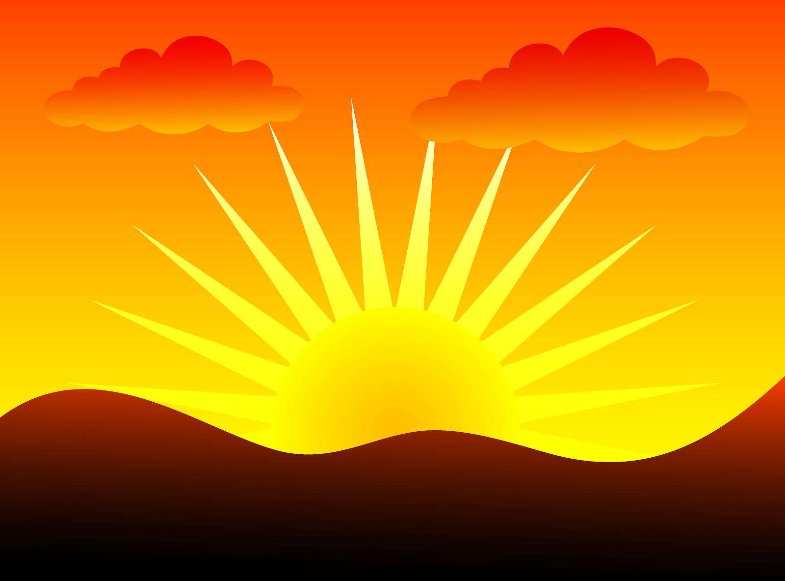 Sunrise Clouds Clip Art.