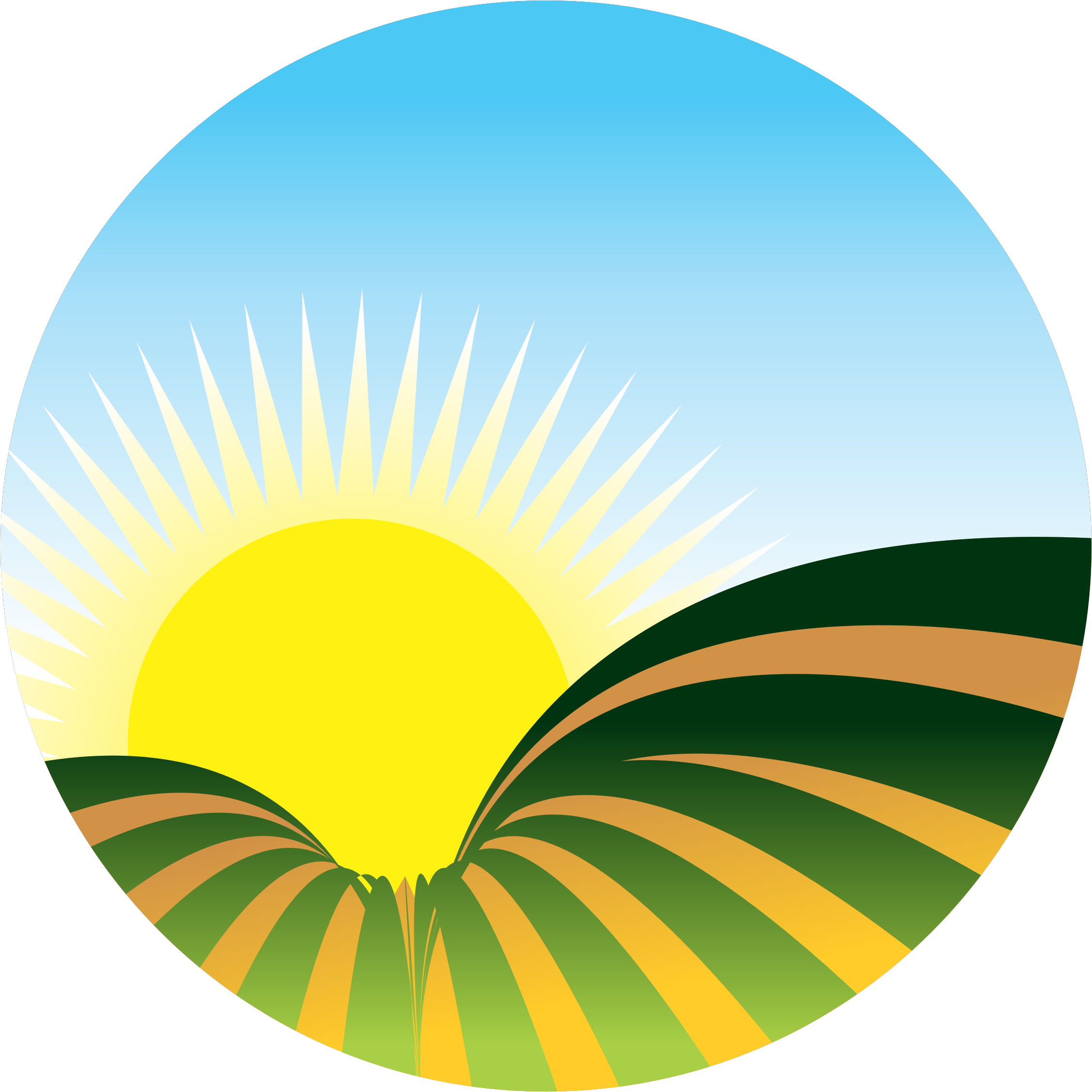 Clipart sunrise icon.