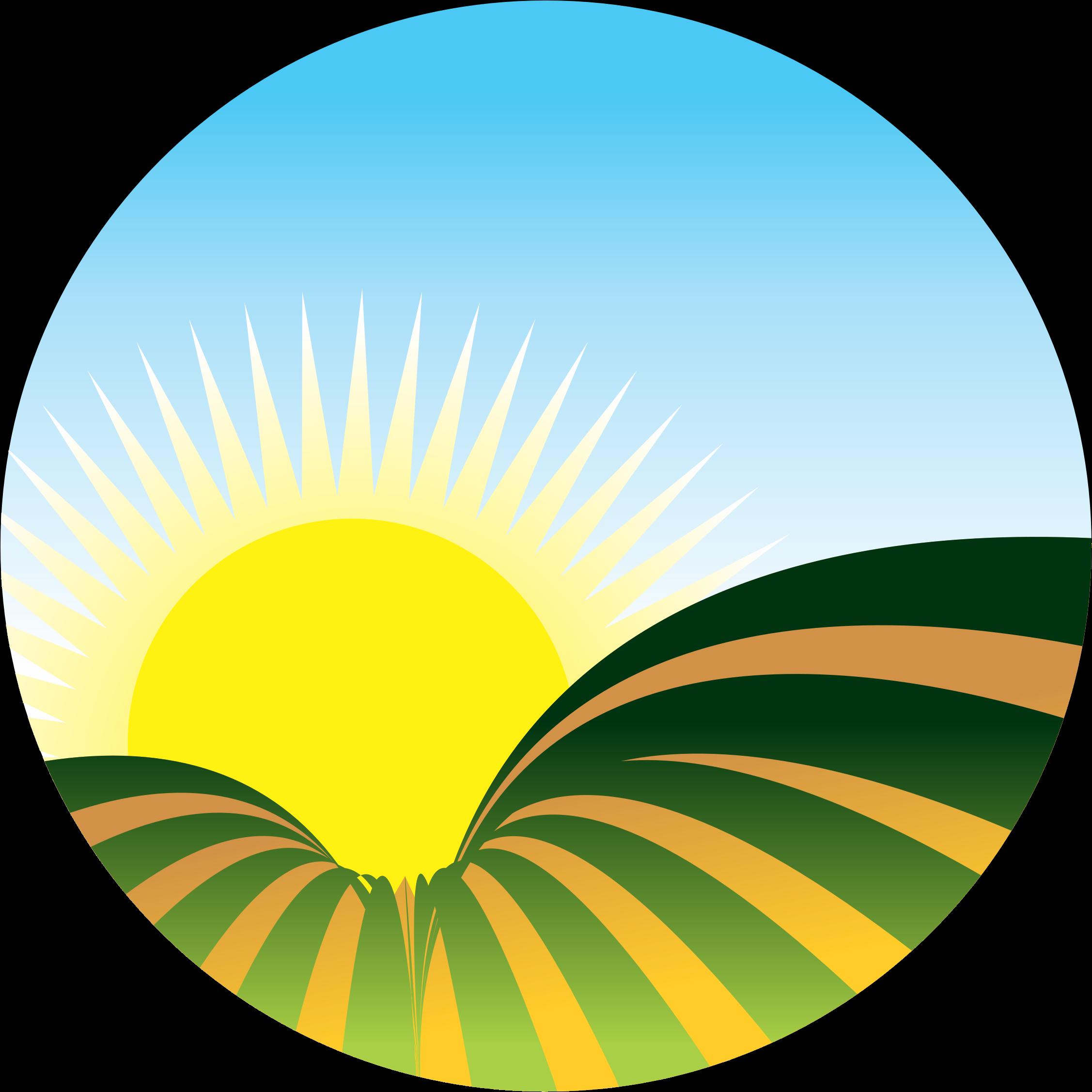 Clipart sunrise icon.