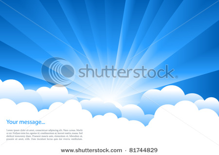 Sunrise Clouds Clip Art.