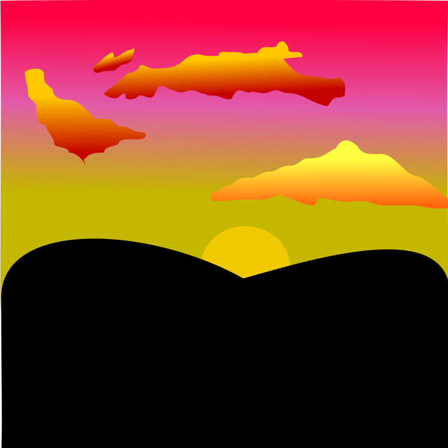 Sunset clipart images.