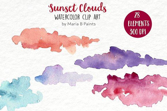 Watercolor Clip Art.