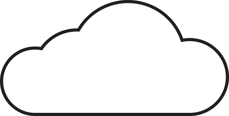 Free White Cloud Clipart Image.