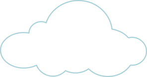 White clouds transparent background clipart.
