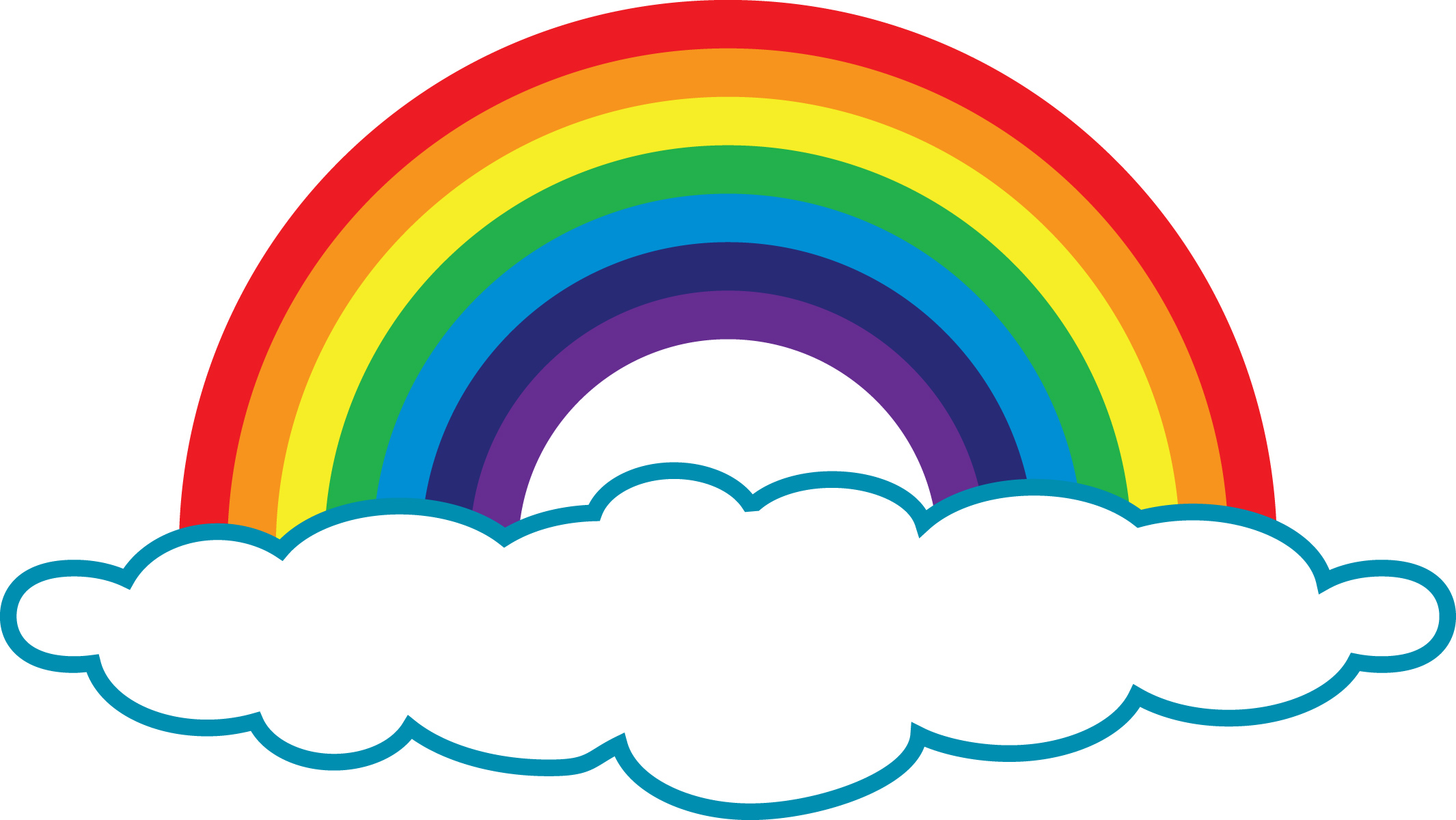 Clouds With Rainbow Clipart