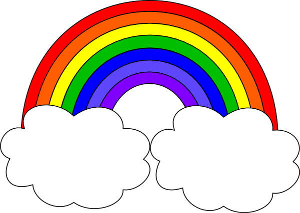 Rainbow With Clouds Clip Art at Clker.com.