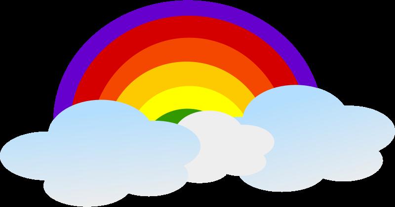 Free to Use & Public Domain Rainbow Clip Art.