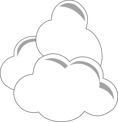 Free white cloud clipart.