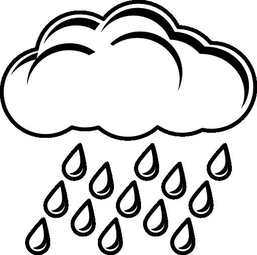 Cloudy clipart rain.