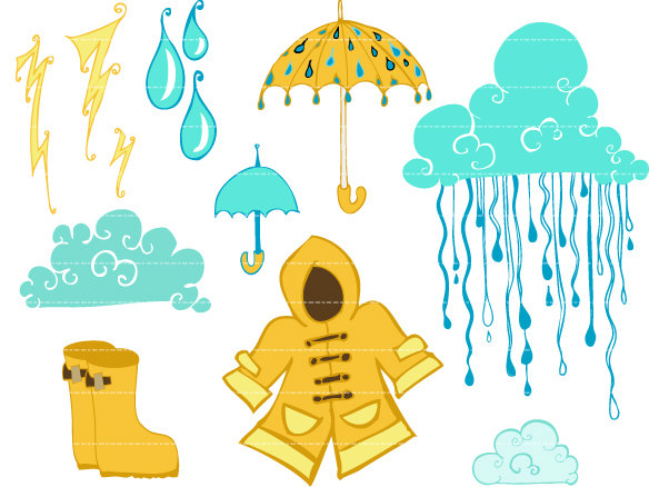 cloudy day and raining clipart #18