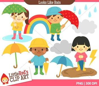 cloudy day and raining clipart #15
