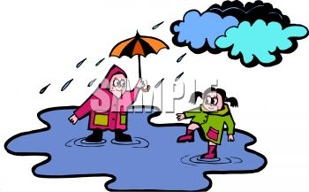 cloudy day and raining clipart #8