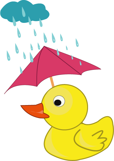 cloudy day and raining clipart #1