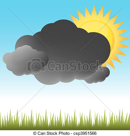 Dark cloudy day clipart.