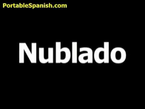 The Spanish word for Cloudy is Nublado.