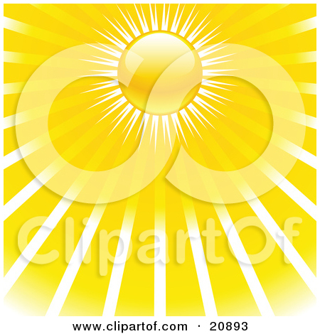 Clipart Illustration of a Collection Of Icons Showing Full Sun.