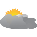 Cloudy Sky Icon, PNG ClipArt Image.