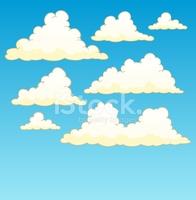 Cloudy Sky Background 5 stock vectors.