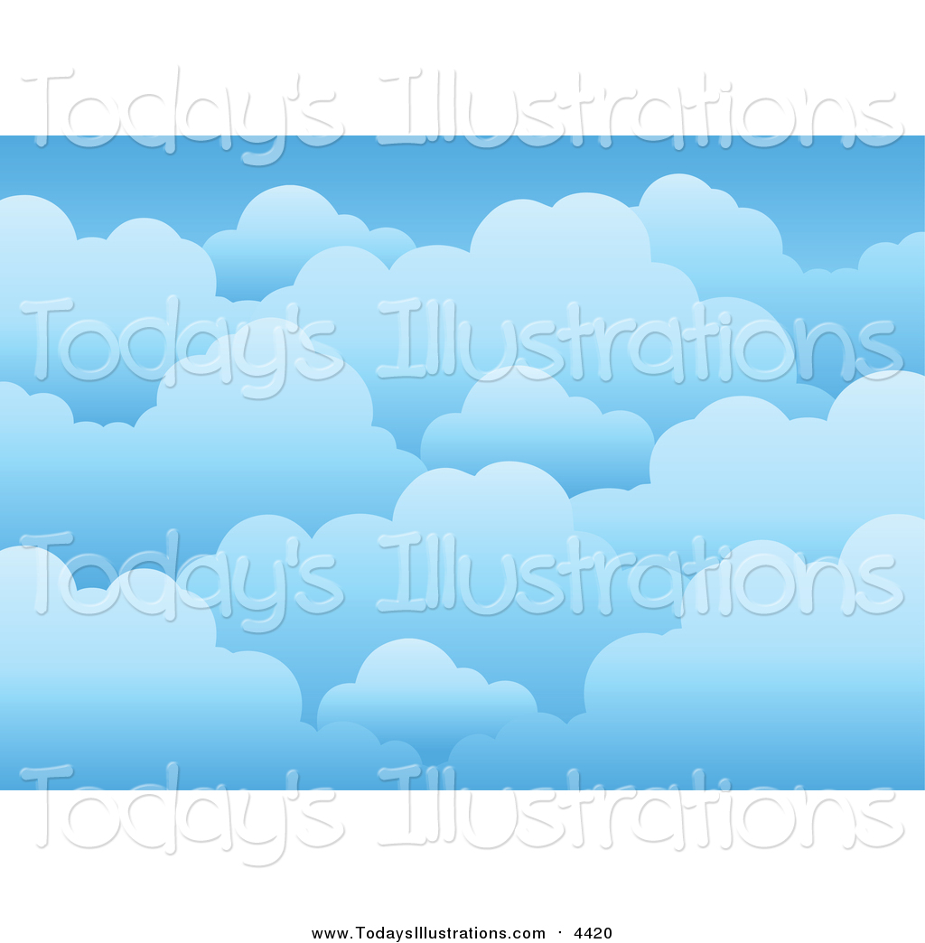 Clipart of a Background of Blue Cloudy Skies by visekart.