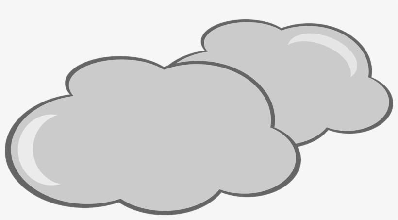 Cloudy Weather Clip Art.
