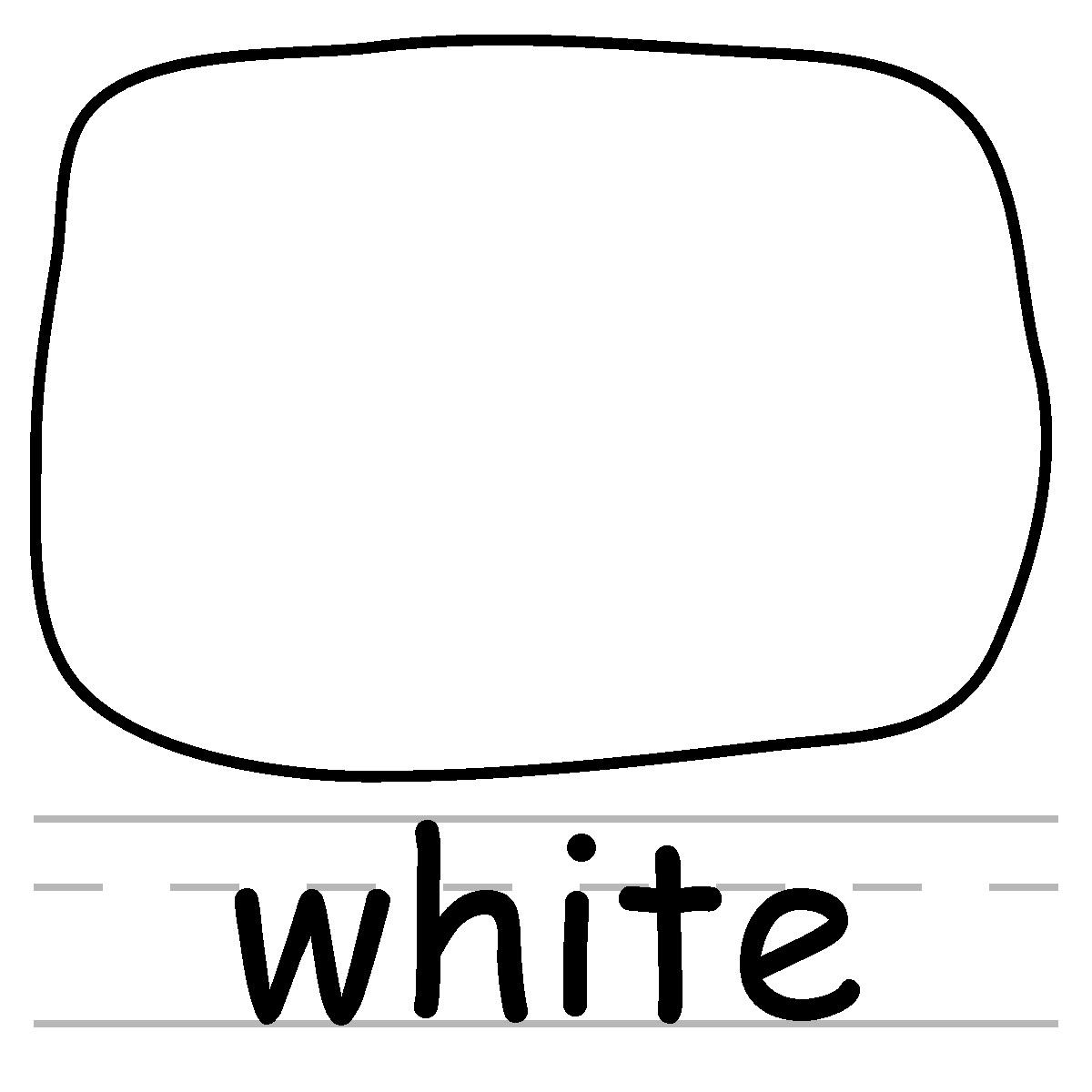 White Color Clipart.