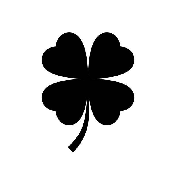 4 leaf clover clipart black and white 3 » Clipart Station.